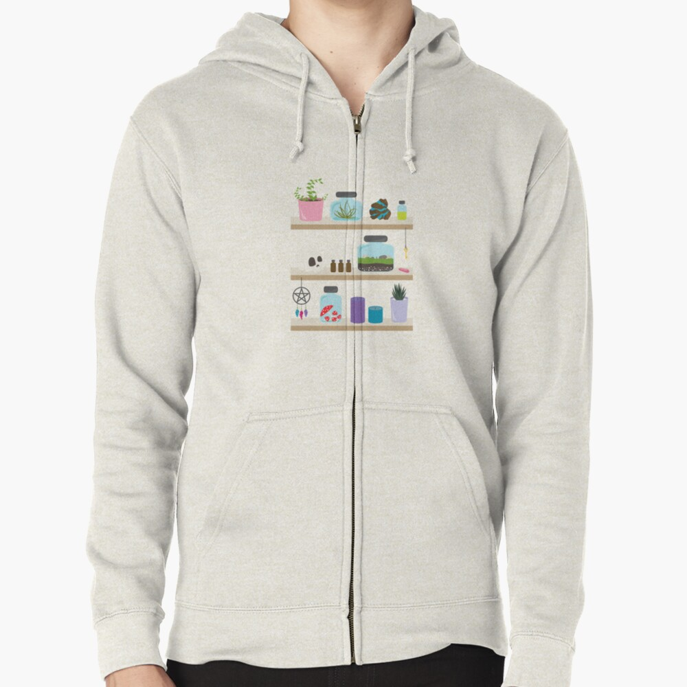 Witch Shelves, The Other Wall Zipped Hoodie
