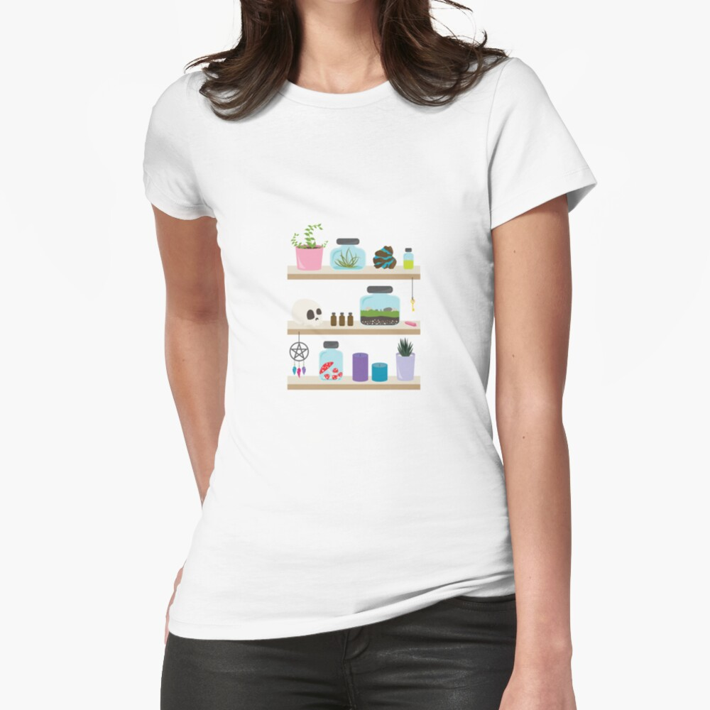 Witch Shelves, The Other Wall Fitted T-Shirt