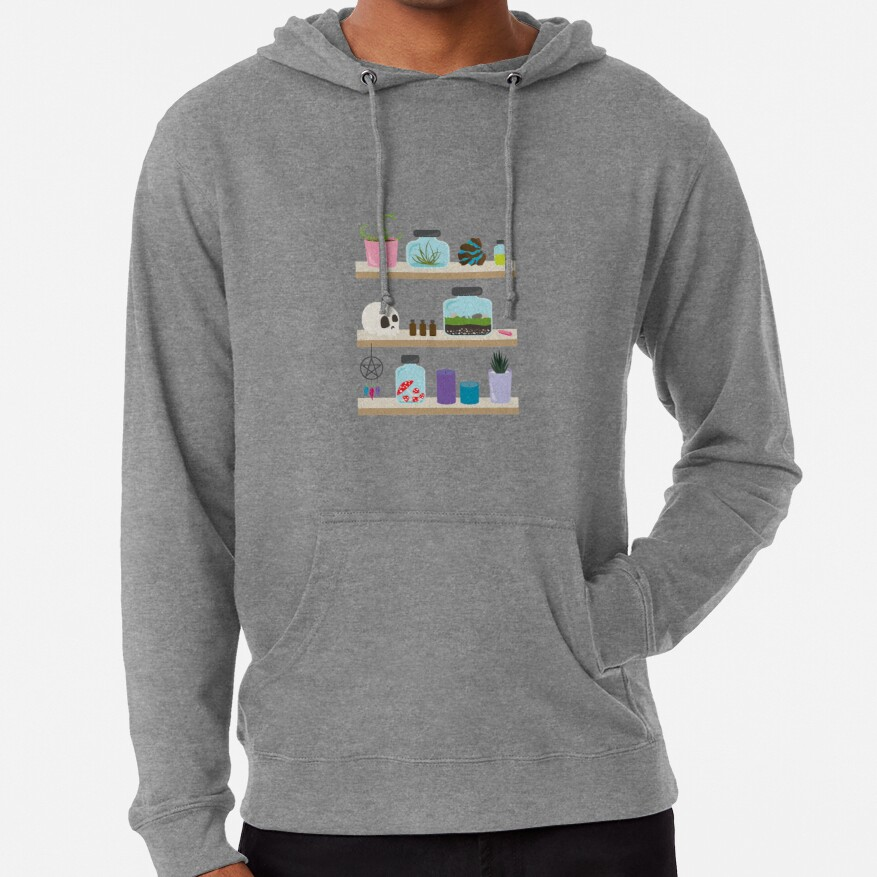 Witch Shelves, The Other Wall Lightweight Hoodie