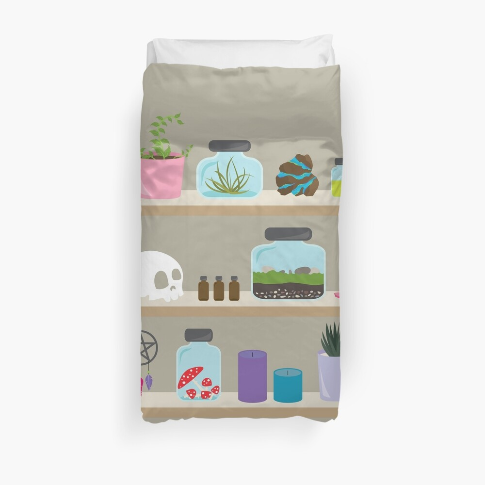 Witch Shelves, The Other Wall Duvet Cover