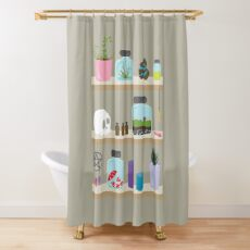 Witch Shelves, The Other Wall Shower Curtain