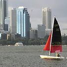 Surfcat on Perth Water.  by Andrew  Makowiecki