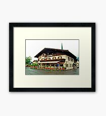 Trattoria at Kossen, Austria Framed Print