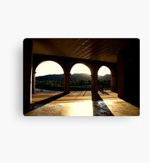 Arches at dusk Canvas Print