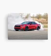 2015 Ford Mustang Burnout Canvas Print