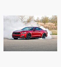 2015 Ford Mustang Burnout Photographic Print