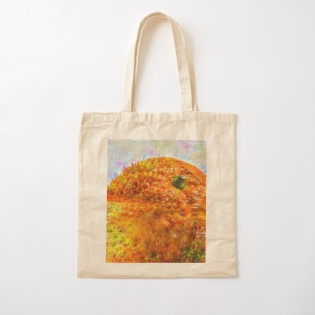 #DeepDreamed Frozen Orange Cotton Tote Bag