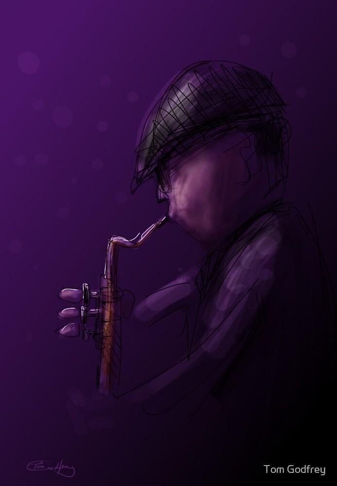The Sax Player by Tom Godfrey
