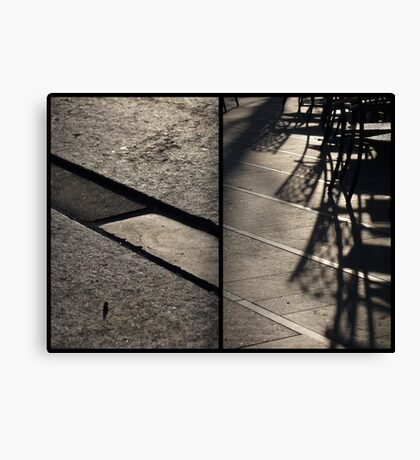 Morning at Heuvel (diptych) Canvas Print