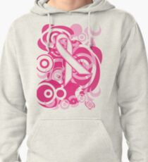 Negative Space Pink Ribbon Abstract Breast Cancer Awareness Tee Pullover Hoodie