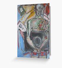 Cyborg Man Greeting Card
