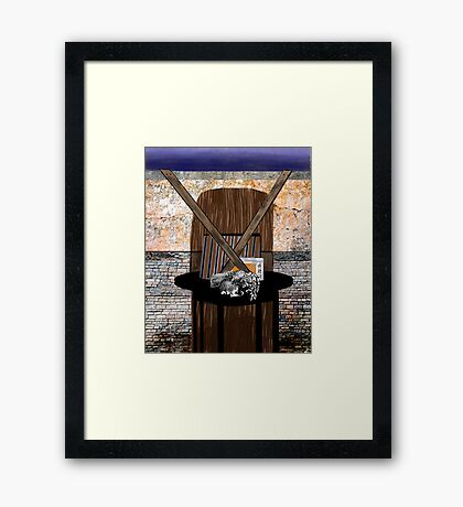 """""""Sign of the Theory"""" - Abstract Framed Print"""