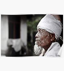 Bali - Indonesia: Elderly man in family commune Poster