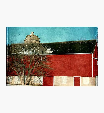 Old Red Barn ©  Photographic Print