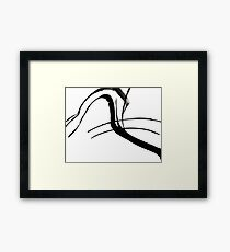 Abstract Ink Painting  Framed Print