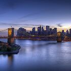 Brooklyn Bridge Aerial, New York City by leungnyc