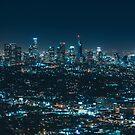 Epic Nighttime Cityscape Skyline by mia-scott