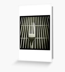 iPhone - B/W Fork Greeting Card