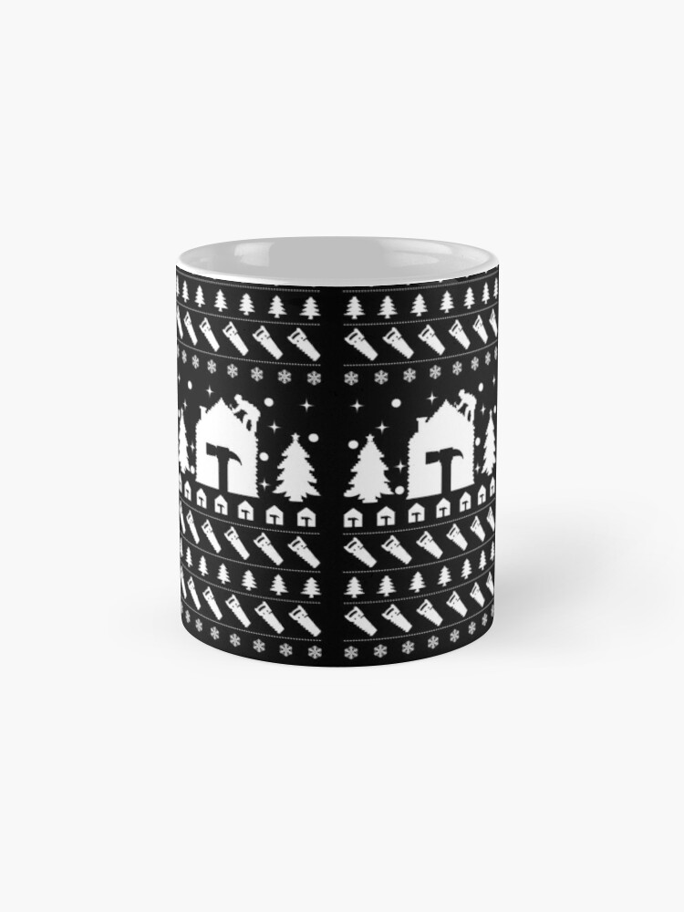Alternate view of Ugly Christmas Sweater Roofer Men's Novelty Gift. Mug