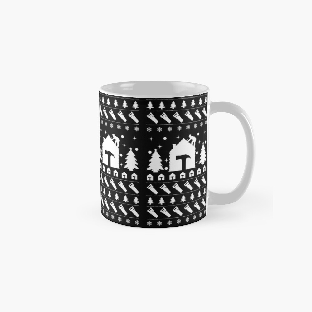 Ugly Christmas Sweater Roofer Men's Novelty Gift. Mug
