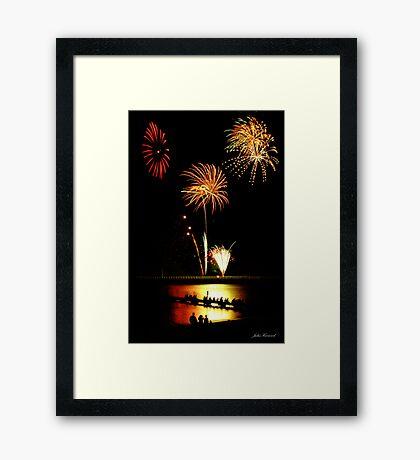 Fireworks Beach Festival, Busselton Framed Print