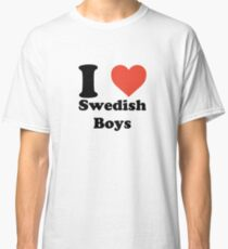 I love (heart) Swedish Boys Classic T-Shirt