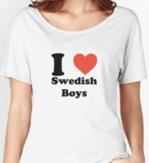 I love (heart) Swedish Boys Women's Relaxed Fit T-Shirt