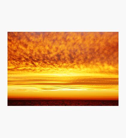 The Firey Sunset Photographic Print