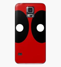 Red field behind black ellipses and white circles. Case/Skin for Samsung Galaxy