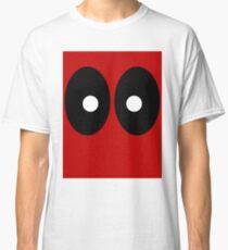 Red field behind black ellipses and white circles. Classic T-Shirt