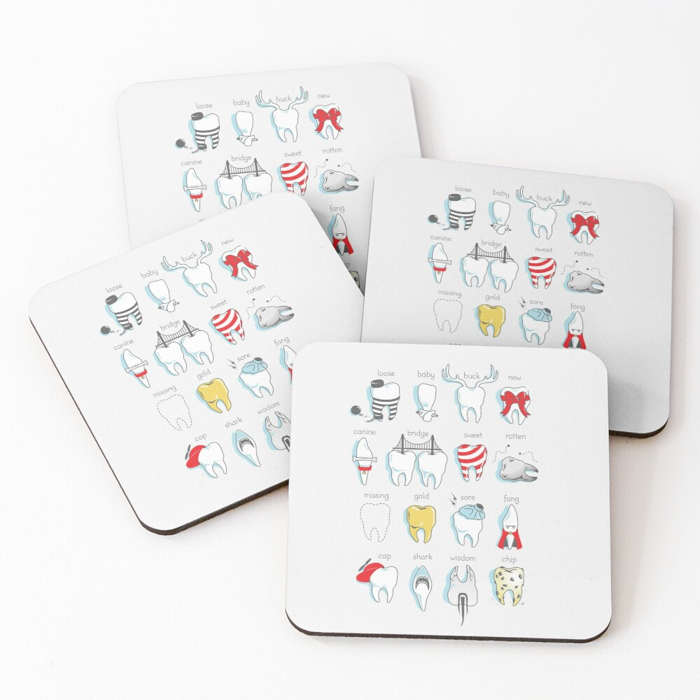 Dental Definitions Coasters (Set of 4)