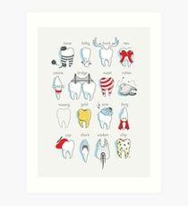 Dental Definitions Art Print