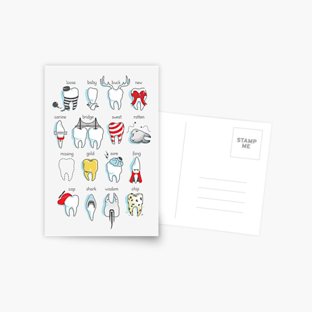 Dental Definitions Postcard