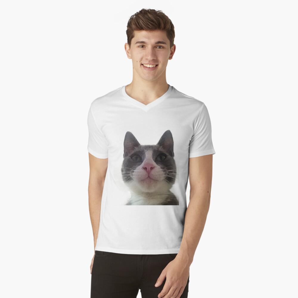 Gracie Kitty Mens V-Neck T-Shirt Front