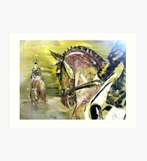 Dressage Competition Art Print