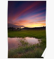 Streaks of clouds Poster
