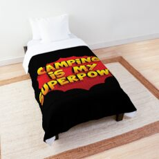 Camping, Camping SuperPower, Camping Gift Comforter
