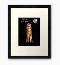 The Scream OH NO I FORGOT Framed Print