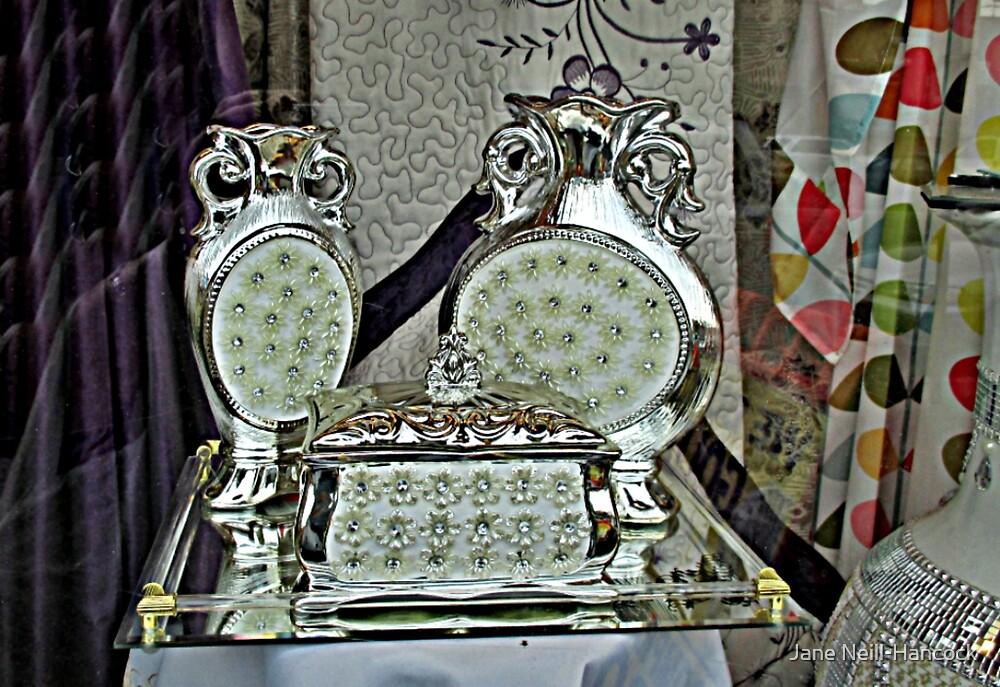 Silver Treasure In The Window by Jane Neill-Hancock