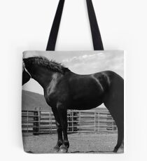 Black Beauty - Percheron Mare Tote Bag