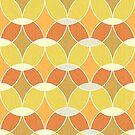Retro Orange Tile Pattern  by tanyadraws
