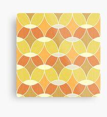 Retro Orange Tile Pattern  Metal Print