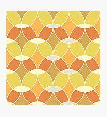 Retro Orange Tile Pattern  Photographic Print