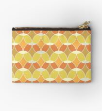 Retro Orange Tile Pattern  Zipper Pouch