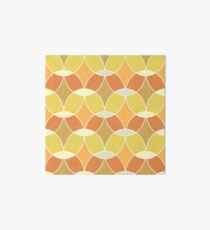 Retro Orange Tile Pattern  Art Board Print