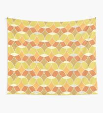 Retro Orange Tile Pattern  Wall Tapestry
