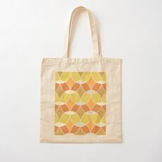 Retro Orange Tile Pattern  Cotton Tote Bag