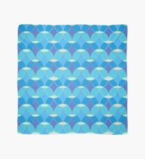 Blue & Gold Oval Tile Pattern  Scarf