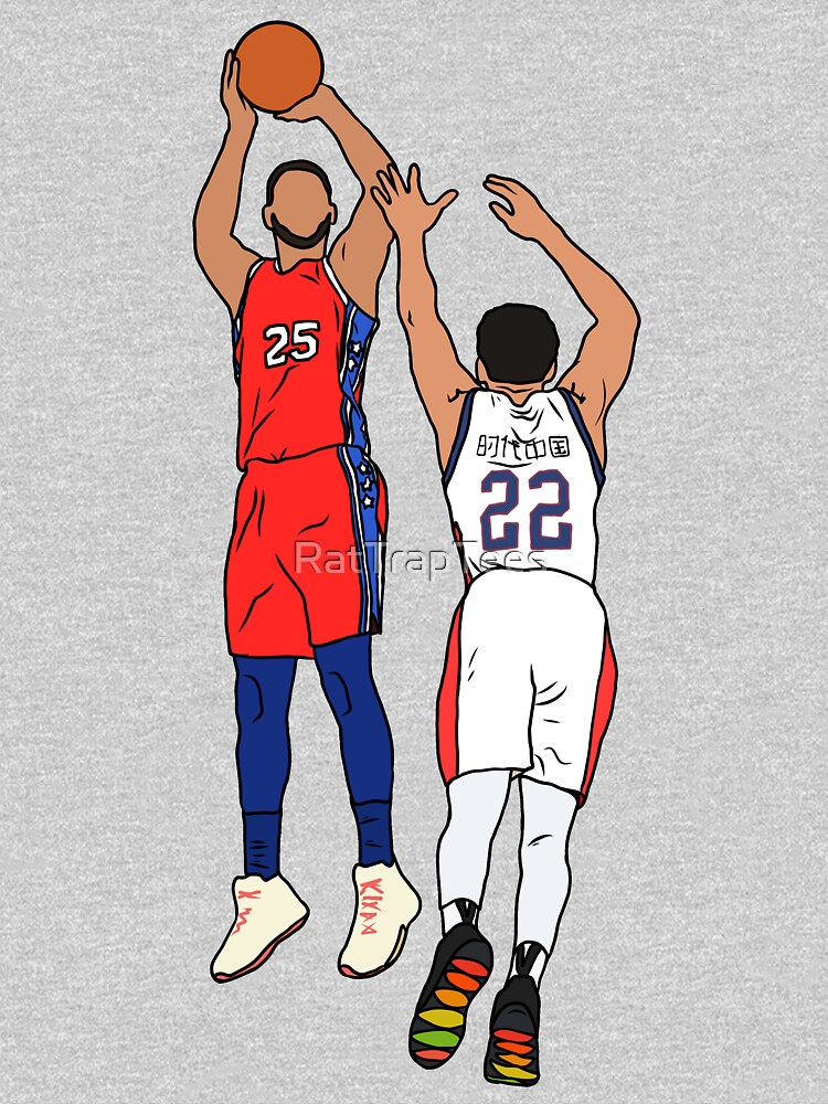 Ben Simmons Makes His First Three by RatTrapTees