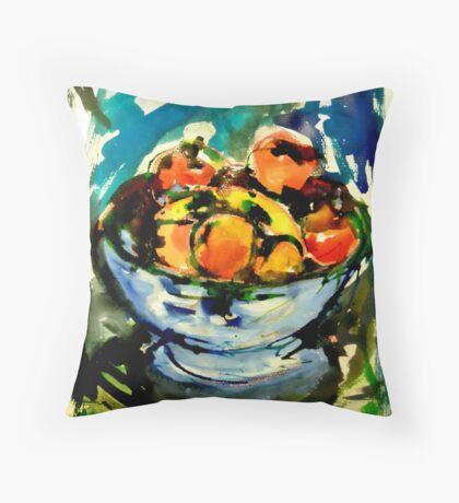bowl of fruits Throw Pillow